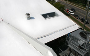 flat roof, white roof, rubber roof